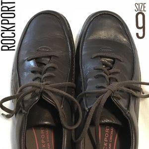 🐣 Rockport Brown Tie Casual Oxfords 9
